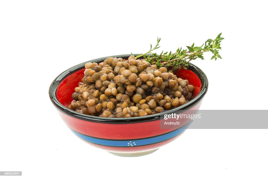 Backed lentils : Stockfoto