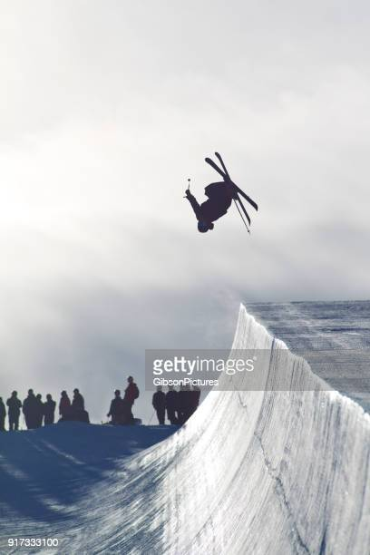 Backflip Half Pipe Skier