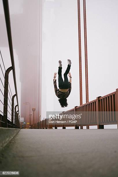 Backflipping on the Golden Gate Bridge