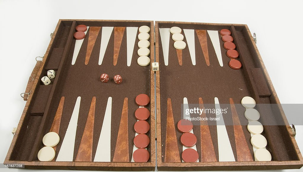 Backgammon board game : Stock Photo