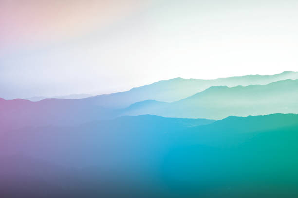 Background Abstract Misty Mountain Range - Fine Art prints