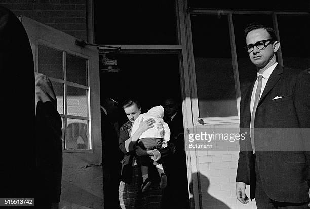 Background for Warren ReportMarina Oswald widow of accused Presidential assassin Lee Harvey Oswald and Mrs Marguerite Oswald his mother leave Dallas'...