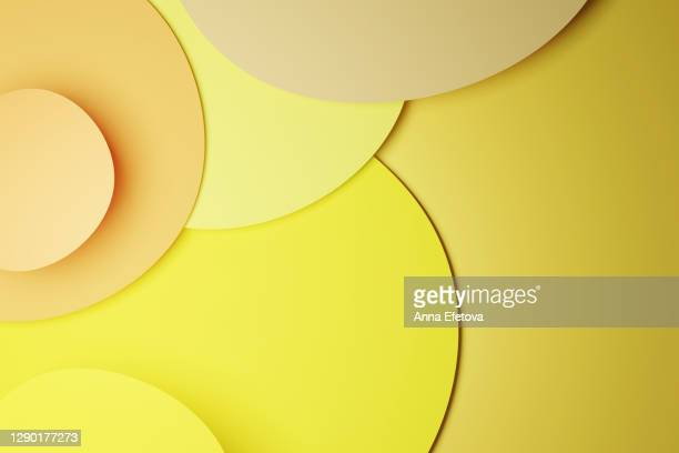 background made of several layers of paper in trendy colors of the year - medium group of objects stock pictures, royalty-free photos & images