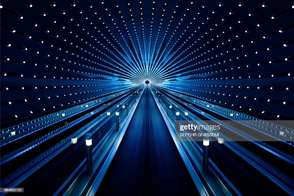 Background of abstract architecture of tunnel : Stock Photo