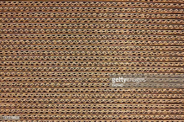 Background of Corrugated Brown Cardboard