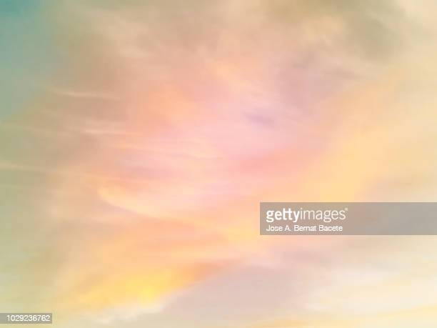 background of forms and abstract figures of smoke and steam of colors on a white and soft blue background. - ethereal stock pictures, royalty-free photos & images