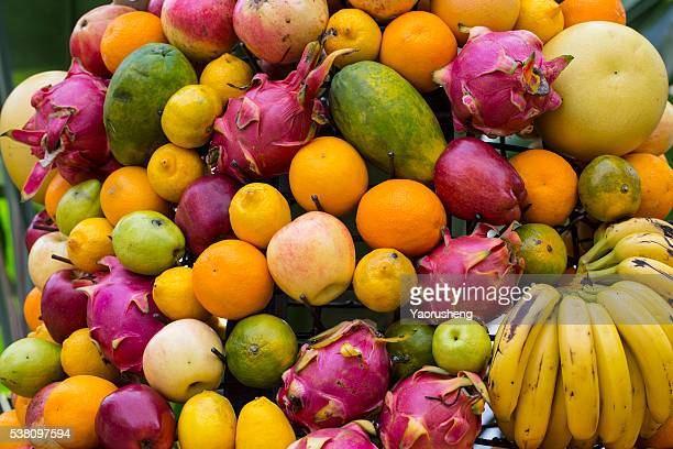 Background of fresh fruit collection