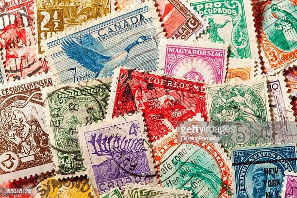 fundo de idade, cancelamento de selos postais. xxxl - selo postal - fotografias e filmes do acervo