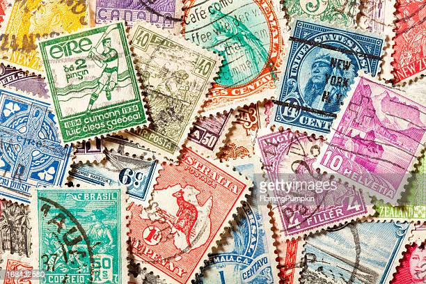fond de vieux, annulé timbres. xxxl - collection photos et images de collection