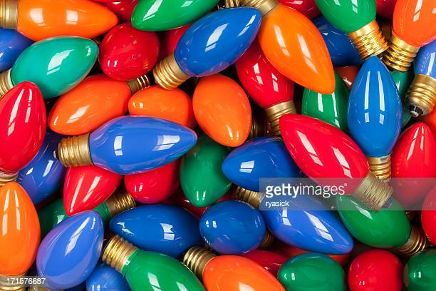 background of old fashioned glass c 9 christmas bulbs lights