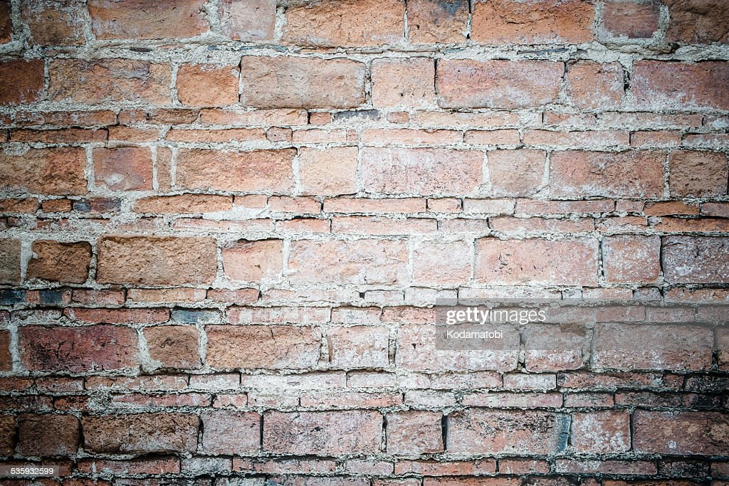 Background of old vintage brick wall : Stock Photo