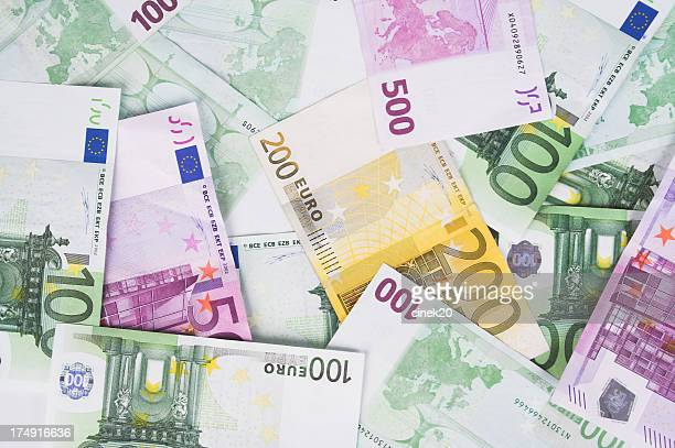 A background of several euro notes
