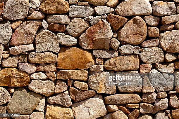 Background - Stacked Stone Wall. Full Frame, Horizontal.