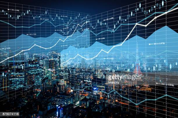 Background stock market and finance economic