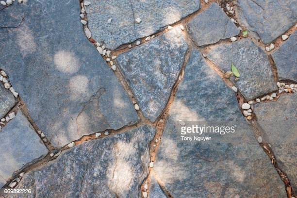 Background texture of stone pathway.