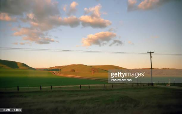 background: the san joaquin valley, evening light - san joaquin valley stock pictures, royalty-free photos & images