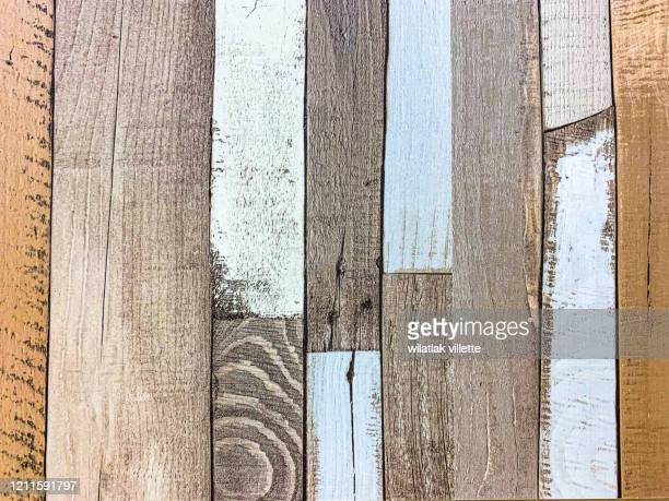 background wood  with beautiful colors. - 打ち捨てられた ストックフォトと画像