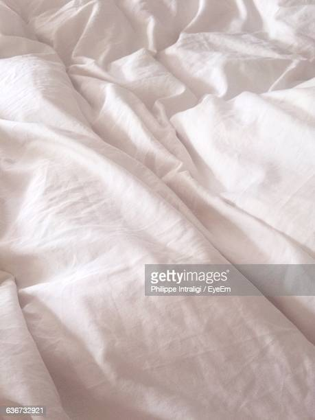 Backgrounds Of Crumpled Bed Sheet