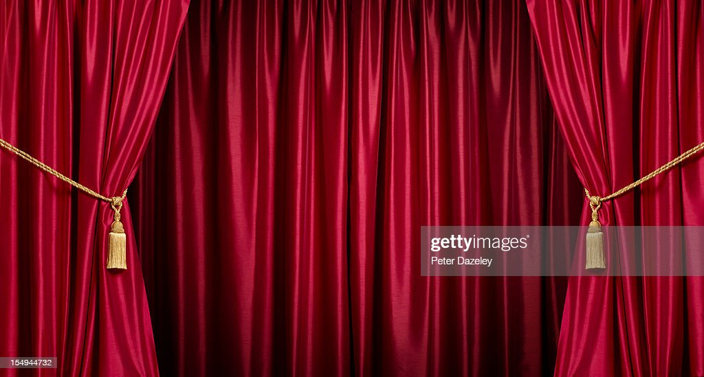 Background/theatre red curtains : Stock Photo