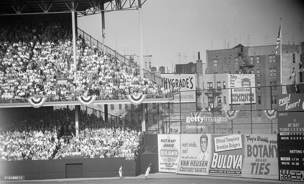 Carl Furillo Catching Baseball : News Photo