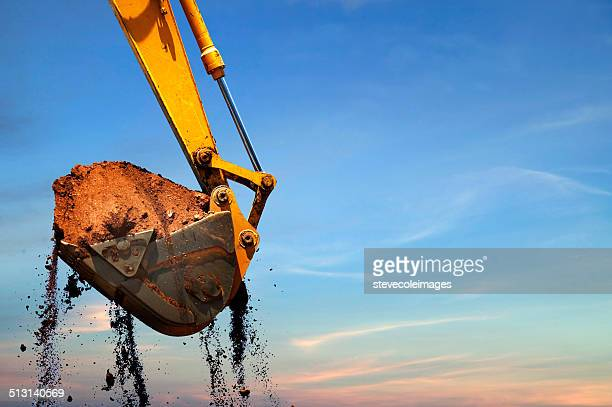 backhoe - excavator stock photos and pictures
