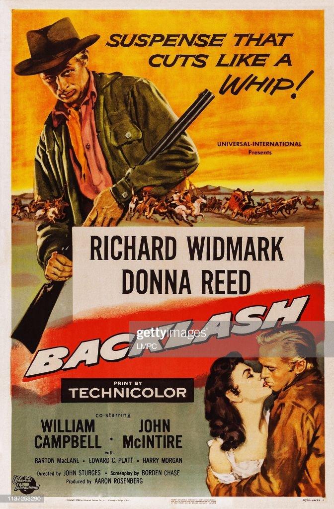 Backlash Richard Widmark vintage movie poster