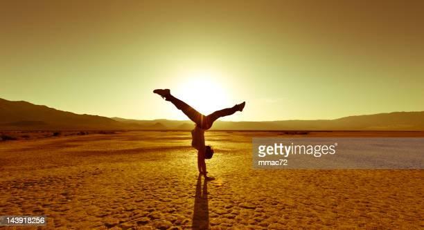 Hintergrundbeleuchtung Akrobatik