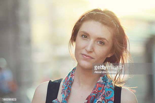 back-light portrait of a beautiful young woman - sleeveless top stock pictures, royalty-free photos & images