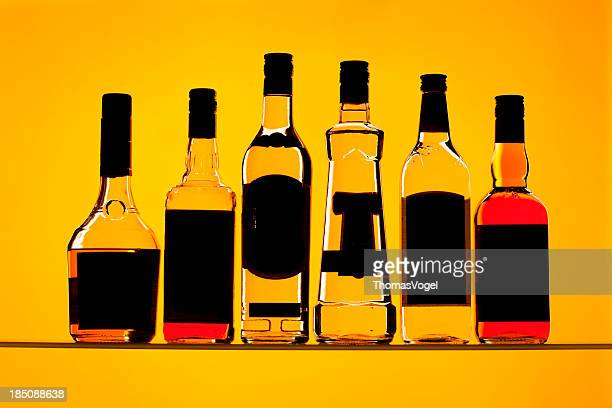 Backlit Alcohol Bottles