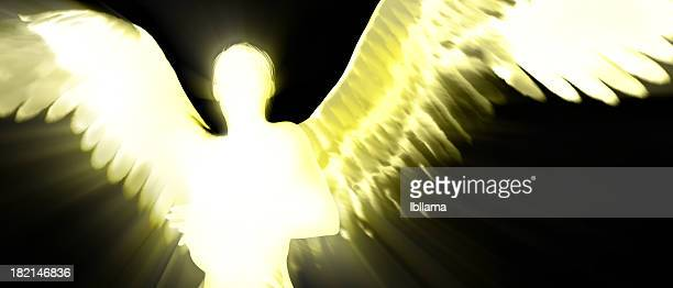 Backlit Angel Silhouette