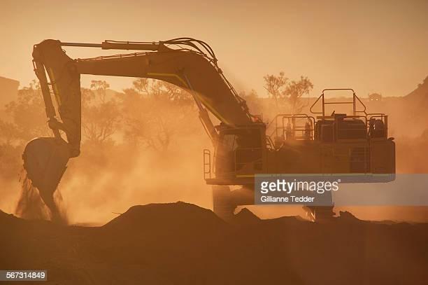 Backlit excavator