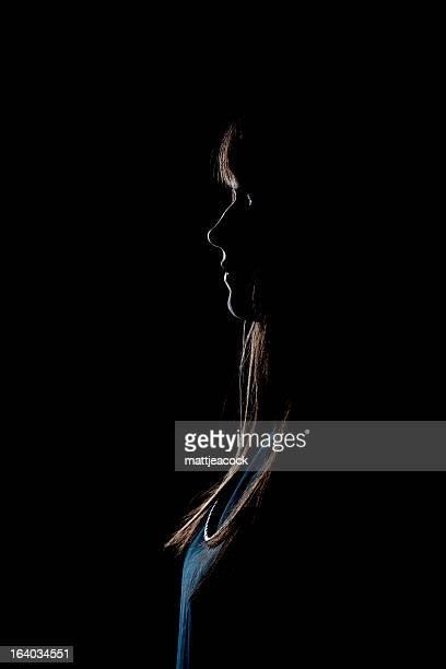Leuchtendes weibliche Seite Profil