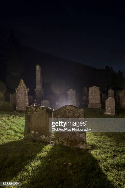 Backlit Gravestones