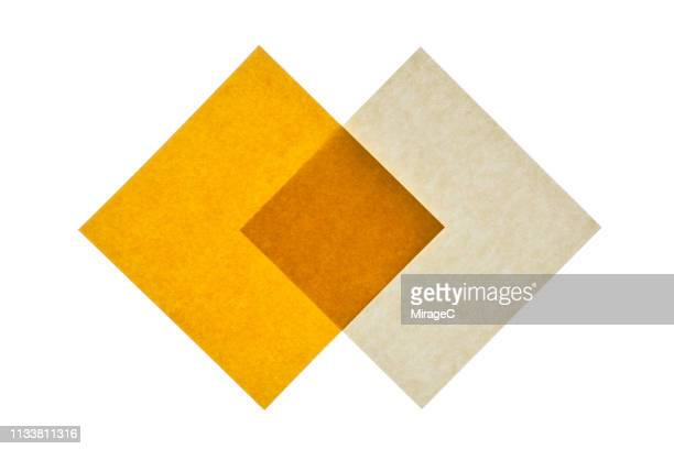 backlit isolated yellow paper - multi layered effect stock pictures, royalty-free photos & images