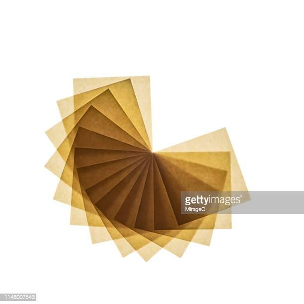 backlit paper pie chart - geschichtet stock-fotos und bilder