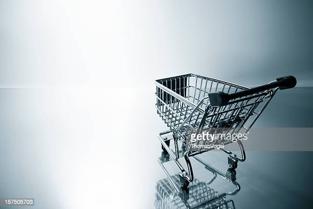Backlit shopping cart. Basket Business Retail e-commerce Shop Wagon Store