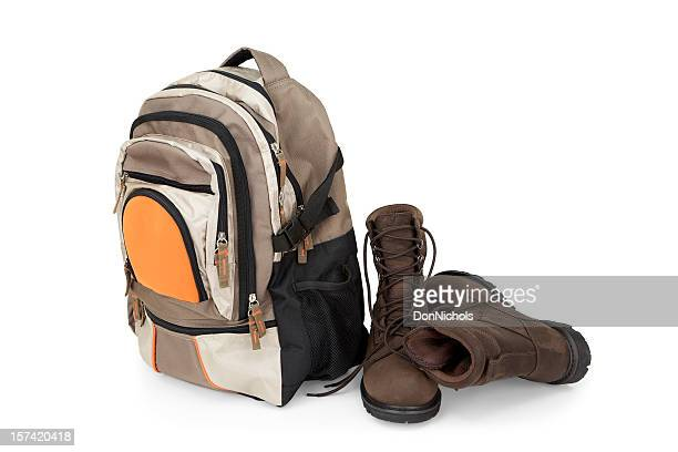 Backpack and Hiking Boots
