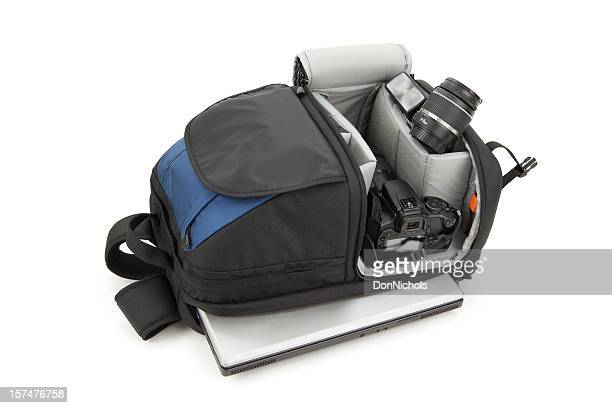 Backpack Camera and Laptop
