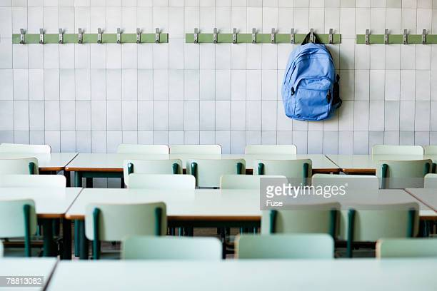 Backpack Hanging in Classroom