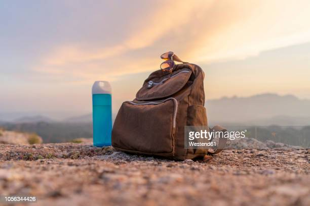 backpack in the mountains - bag stock pictures, royalty-free photos & images
