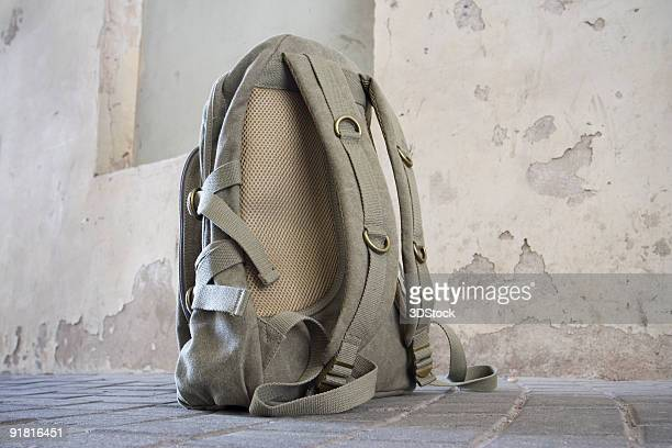 Backpack on the ground
