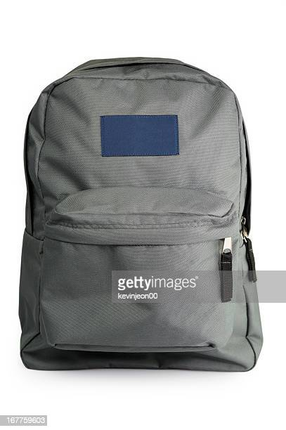 backpack with grey and blue colors - rucksack stock pictures, royalty-free photos & images