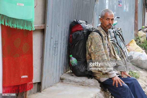 Backpacker alone, Kathmandu