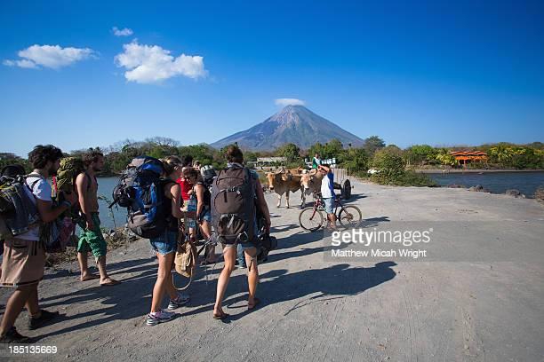Backpackers head onto the Isle of Ometepe