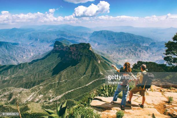 backpackers hiking sierra gorda in mexico - queretaro state stock pictures, royalty-free photos & images