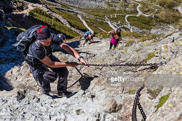 Backpackers in the Tatra Mountains, Poland