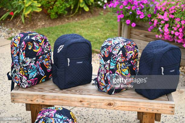 Backpacks are seen as Vera Bradley partners with Blessings In A Backpack to continue BackToSchool Philanthropy Tour with Danielle Jonas at Greater...