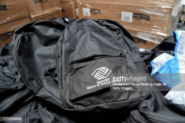 Backpacks with the Olivet Boys and Girls Club logo on them, for students that will participate in the club's program for students doing virtual...