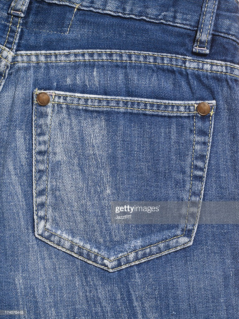 Backpocket of Jeans : Stock Photo