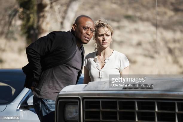 "Backroads"" Episode 301 -- Pictured: Omar Epps as Isaac Johnson, Shantel Vansanten as Julie Swagger --"